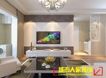保利香槟国际88平二室一厅装修效果图