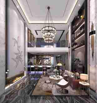 珊瑚天峰四室三厅现代简约装修效果图