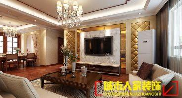 美景阁中式三室一厅装修效果图