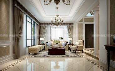 武夷绿洲六室三厅美式装修效果图