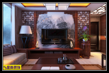 绿地城中式三室二厅装修效果图