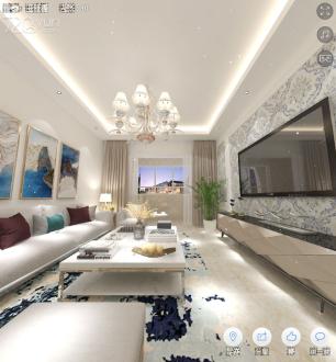 月明东苑二室二厅83平装修效果图