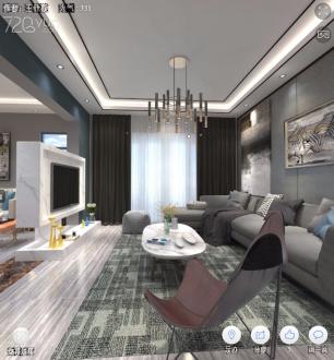 香槟园二室二厅85平装修效果图