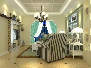 香格里拉花园三室二厅现代简约装修效果图