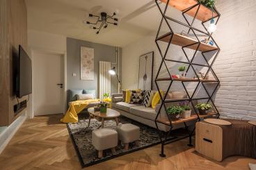 北欧家居二室二厅100平装修效果图