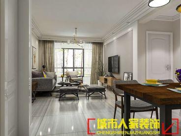 中弘卓越城三室一厅现代简约装修效果图