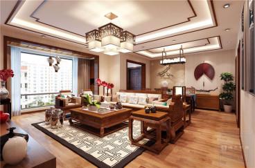 中铁逸都国际132平四室二厅装修效果图