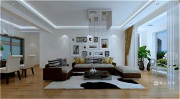 一鸣宽城国际全包三室二厅装修效果图