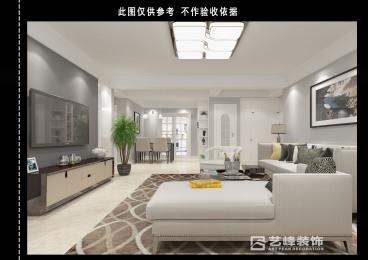 旺峰嘉苑139平现代简约装修效果图