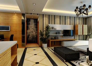 哈西万达广场全包三室二厅装修效果图