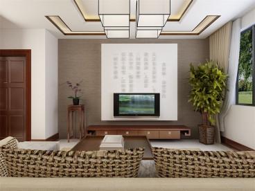 津南南园三室二厅中式装修效果图