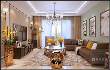 黄埔国际130平三室二厅装修效果图