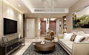 港宏世家三室二厅现代简约装修效果图
