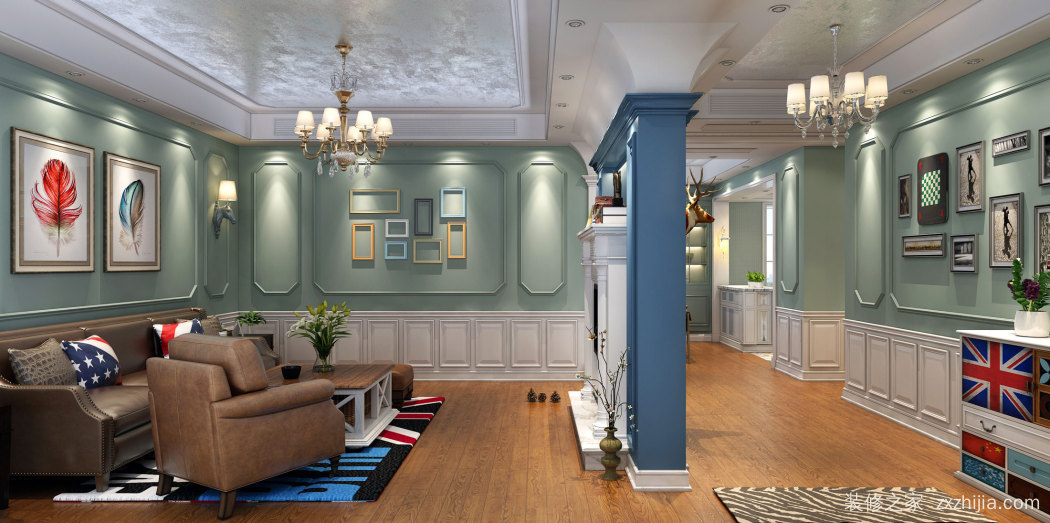 时代俊园144平四室二厅装修效果图