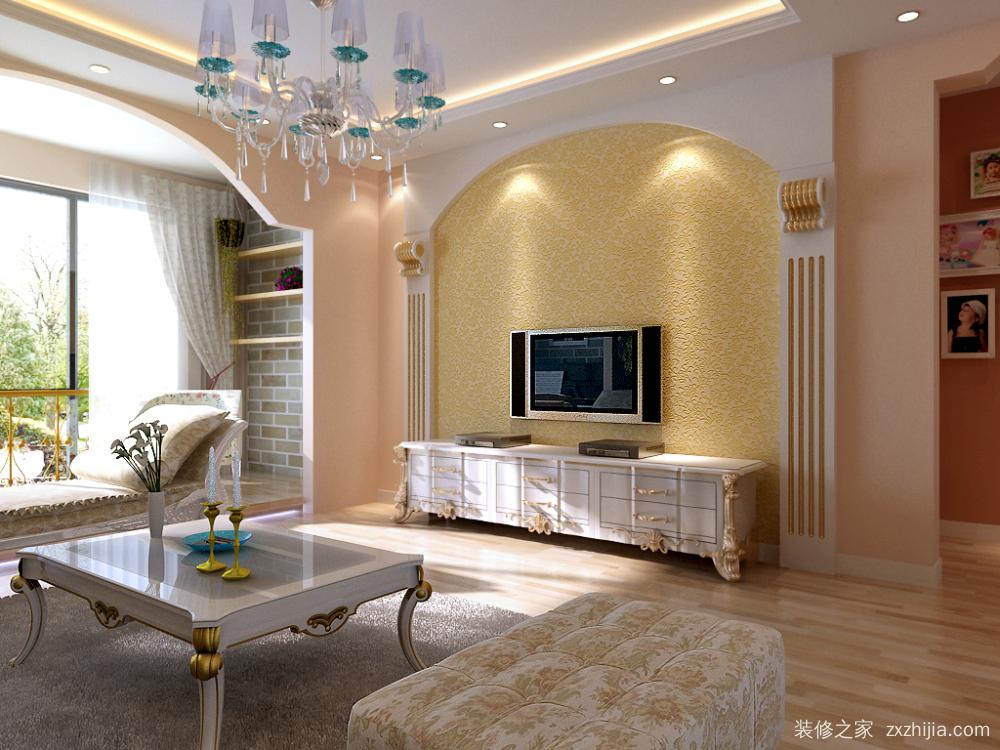 天山九峯欧式古典二室一厅装修效果图