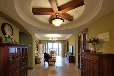 尚海华庭三室二厅美式全包装修效果图
