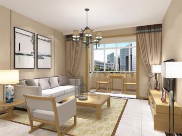天房美域新中式二室二厅装修效果图