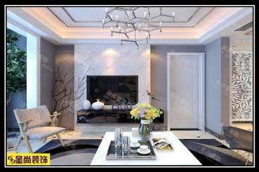 鲁能泰山7号现代简约140平三室二厅装修