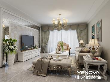 云星钱隆首府128平半包三室二厅装修效果