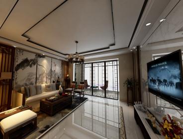 中铁水岸青城四室二厅186平装修效果图