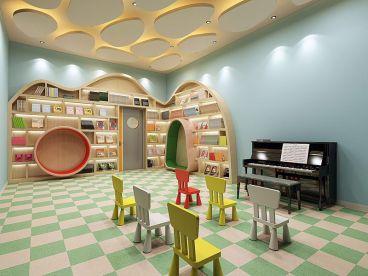 美的时代广场钢琴培训学校350平装修效果