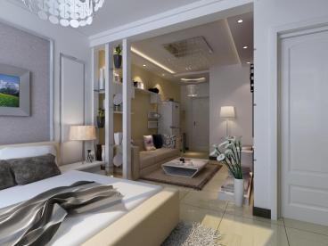 景星花园40平一室二厅装修效果图