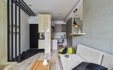 荣盛·幸福大道现代简约二室一厅装修效果图