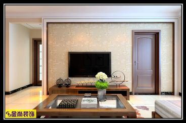 明辉豪庭三室二厅新中式装修效果图
