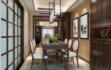 水岸华府二室一厅120平装修效果图