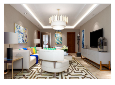 天域嘉园现代简约三室二厅装修效果图