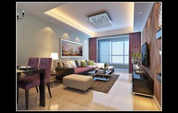 帝景苑二室二厅纯设计装修效果图