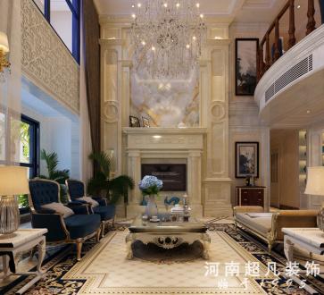 新密东城半岛欧式古典六室三厅装修效果图
