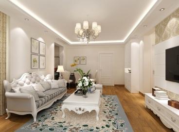 百强新世家二室二厅100平装修效果图