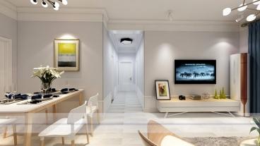 美伦香颂三室二厅全包装修效果图