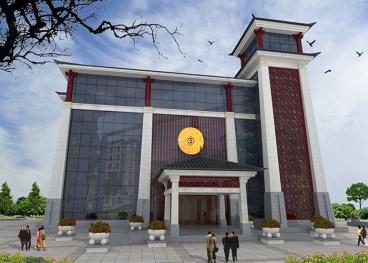 中国卤阳湖综合楼外观零室零厅中式装修效果