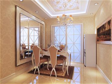 建投10号院全包三室一厅装修效果图