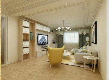 昆仑阳光城三室二厅简欧装修效果图