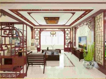 海湖星城新中式四室二厅装修效果图