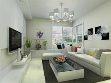 上城家园三室一厅90平装修效果图