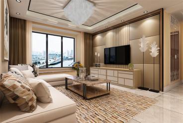 天津津南新城115平三室二厅装修效果图
