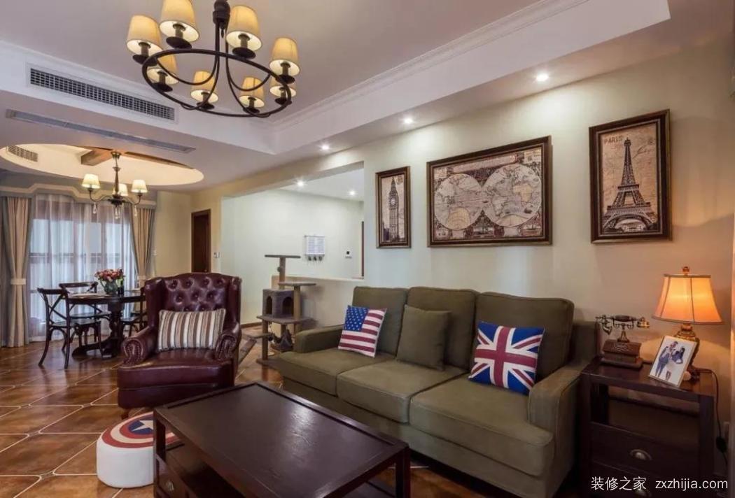 背景墙          西藏嘉园美式背景墙效果图                    沙发图片