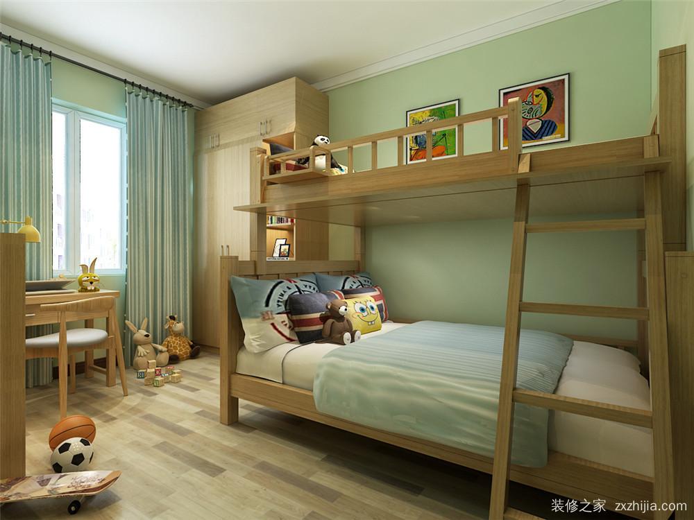 户型设计 富力又一城 新中式卧室效果图 客厅有一个朝南的大落地窗