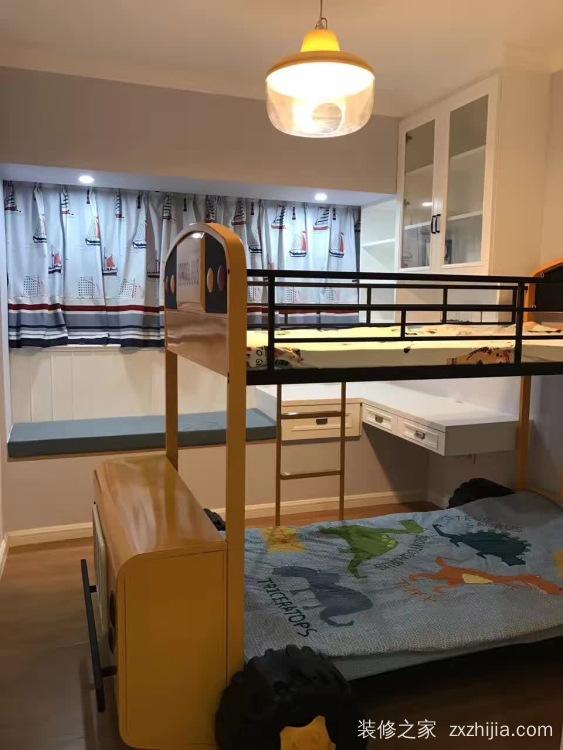 西城上筑美式三室二厅装修效果图