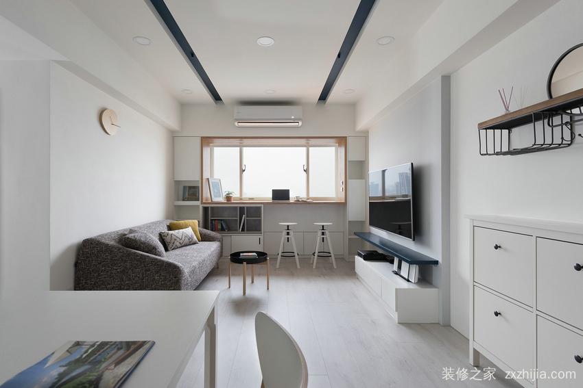 群升江山城二室一厅现代简约装修效果图