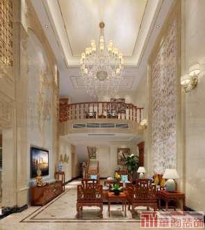 海逸豪庭别墅六室三厅新中式装修效果图