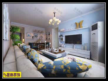 大尧风华盛景90平二室一厅装修效果图