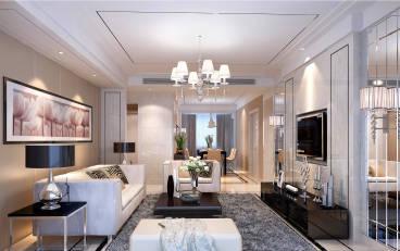 青龙湾现代简约三室二厅装修效果图