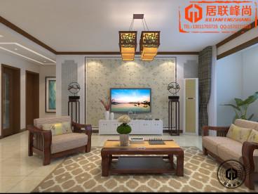 中海国际社区中式全包装修效果图