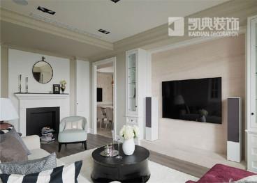 东郊美树苑136平三室二厅装修效果图