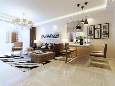 合景御华园现代简约三室二厅装修效果图